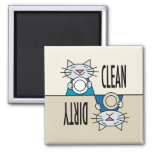 Kitty dishwasher clean dirty magnet