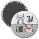 Kitty dishwasher clean dirty magnets