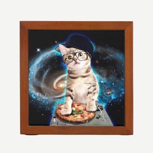 kitty dj cat desk organizer