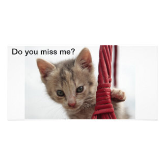 Kitty Do you miss me card