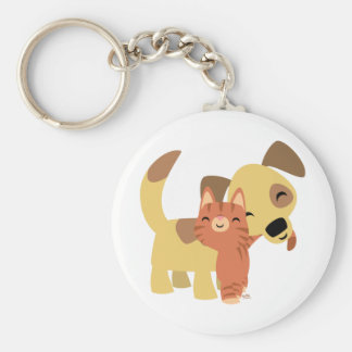 Kitty & Doggy cartoon keychain