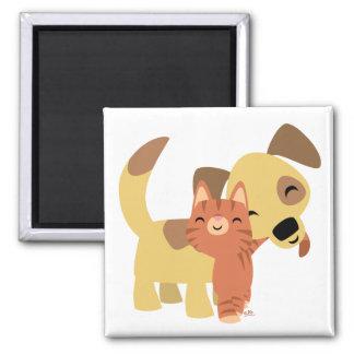 Kitty & Doggy cartoon magnet
