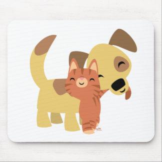 Kitty Doggy cartoon mousepad