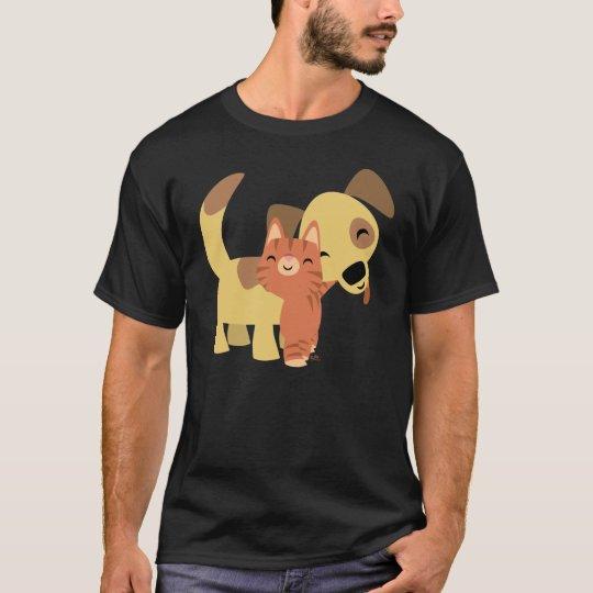 Kitty & Doggy cartoon T-shirt