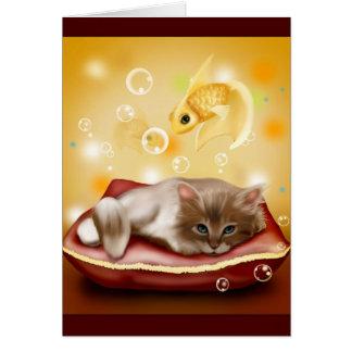 Kitty Dreams Greeting Card