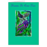 Kitty dreams she is a Butterfly, Dreams Do Come... Greeting Card