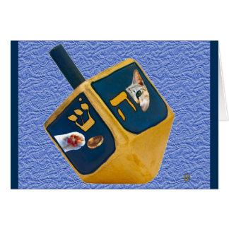 Kitty Dreidel Card