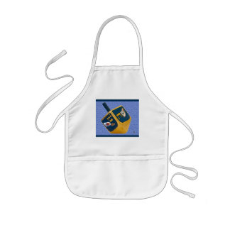 kitty dreidel kids' apron