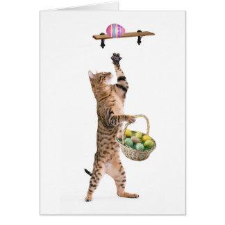 Kitty Easter egg hunt Card