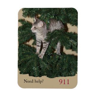 Kitty Emergency Number Reminder magnet