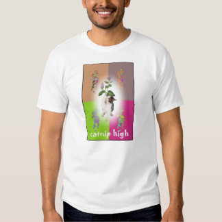 Kitty enjoying Catnip high T-shirt