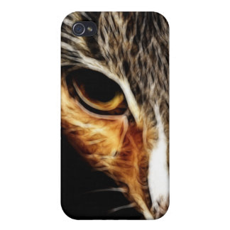 Kitty Face Fractal iPhone4 iPhone 4/4S Covers