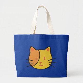 Kitty Face Large Tote Bag