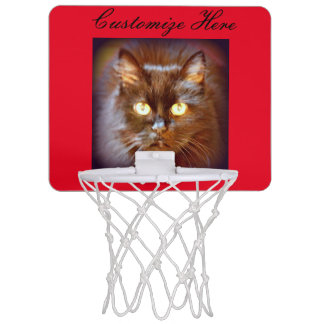 kitty face red mini basketball backboard