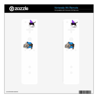 kitty fairy at play  blue purple siamese wii decal