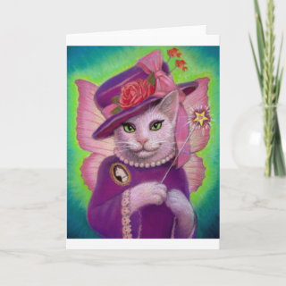 Kitty Fairy Godmother Greeting Cards