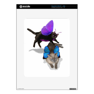 kitty fairy play time blue siamese ipad decals