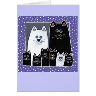 Kitty Family Portrait Card