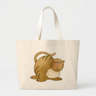 kitty fat canvas bag