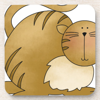 kitty fat drink coasters