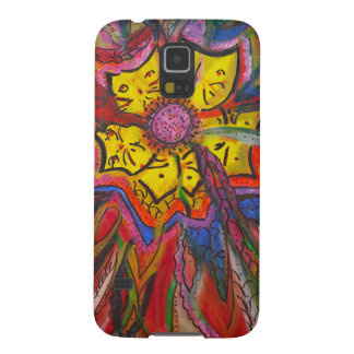 Kitty Feather Flowers Case For Galaxy S5