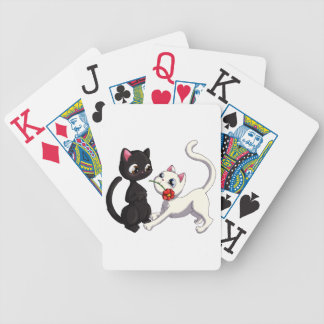 Kitty Flower Bicycle Playing Cards