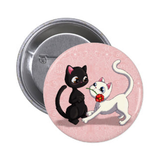 Kitty Flower Button