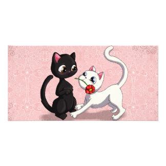 Kitty Flower Card