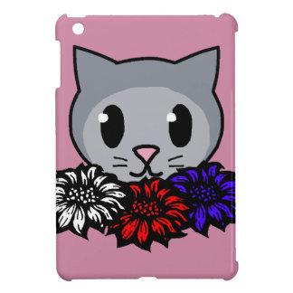 Kitty & Flowers iPad Mini Cases