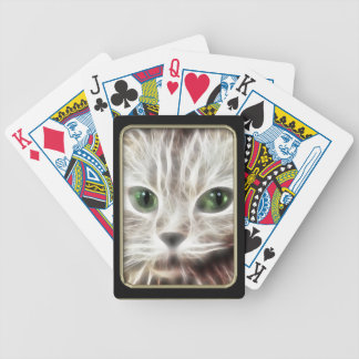 Kitty Fractal Art Playing Cards