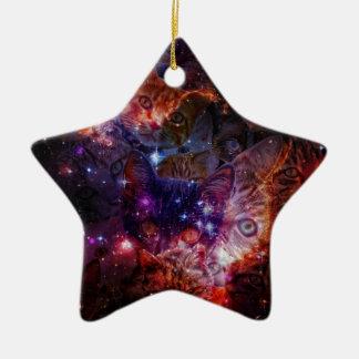 Kitty Galaxy Ceramic Ornament