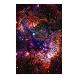 Kitty Galaxy Stationery