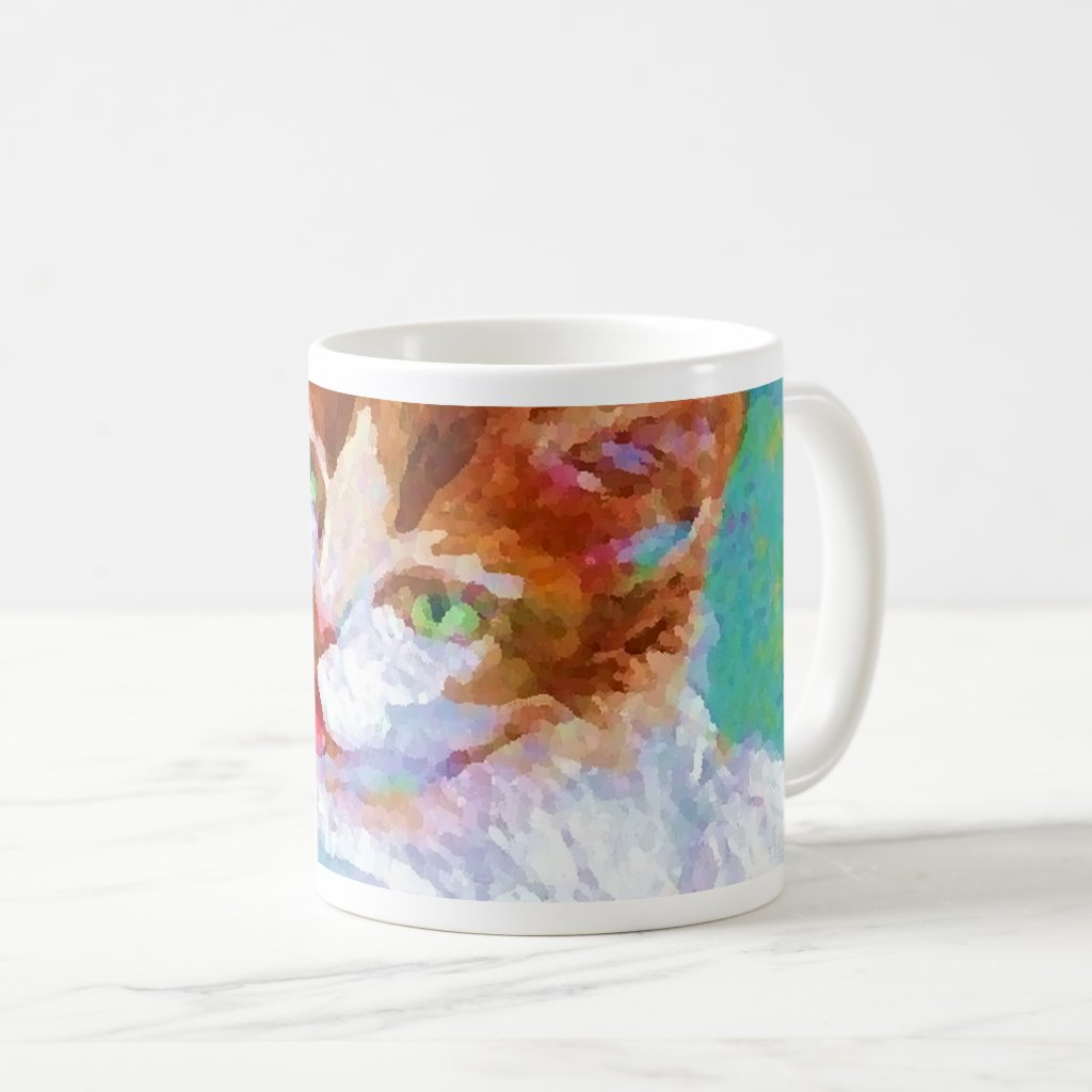Kitty Getting My Paintbrush Coffee Mug