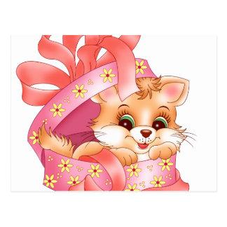 Kitty gift postcard