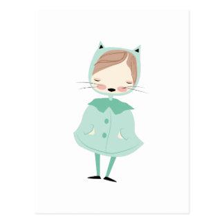 Kitty Girl Postcard