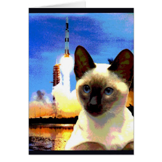 """Kitty Goes to Cape Canaveral"" Card"
