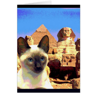 """Kitty Goes to Egypt"" Card"