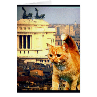 """Kitty Goes to Rome"" Card"