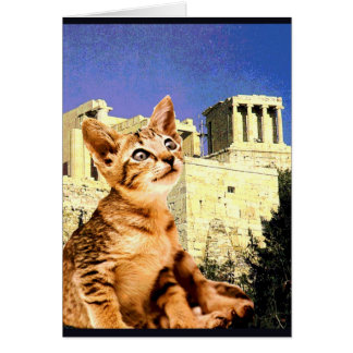 """Kitty Goes to the Acropolis"" Card"