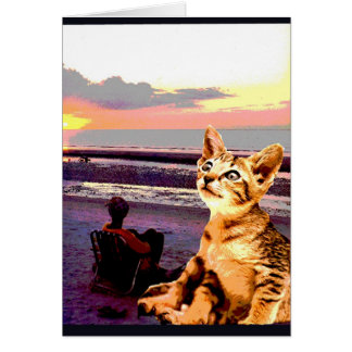 """Kitty Goes to the Beach"" Card"