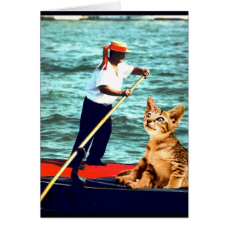 """Kitty Goes to Venice"" Card"