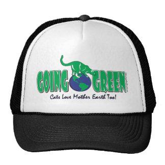 KITTY-GOING-GREEN TRUCKER HAT