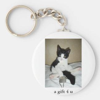 kitty got caught redhanded keychain