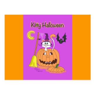 Kitty Halloween! Postcard