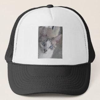 Kitty has Blue Eyes Trucker Hat