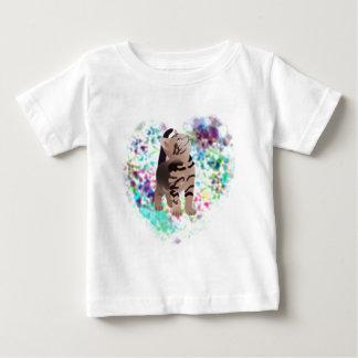 Kitty Heart Aqua gifts Baby T-Shirt