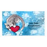 Kitty Heart Business Card