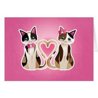 Kitty heart-calico ver-card card