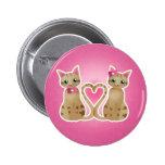 Kitty heart-ginger ver-button