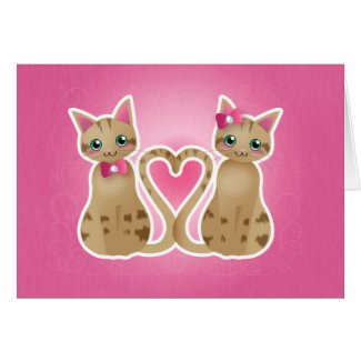 Kitty heart-ginger ver-card
